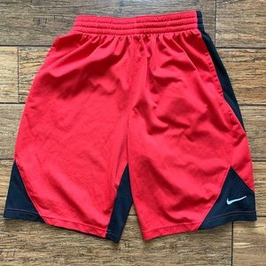 Red and Black Basketball Athletic Shorts